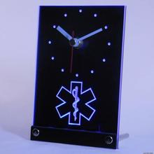 tnc0088 EMS Paramedic Medical Services Table Desk 3D LED Clock(China)