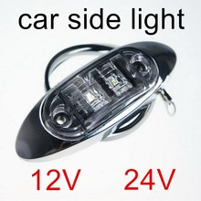 car accessory 1 piece LED Side Marker Lights Clearance Lamp Trailer Truck Bus Car LED 12V 24V 3 colors selection