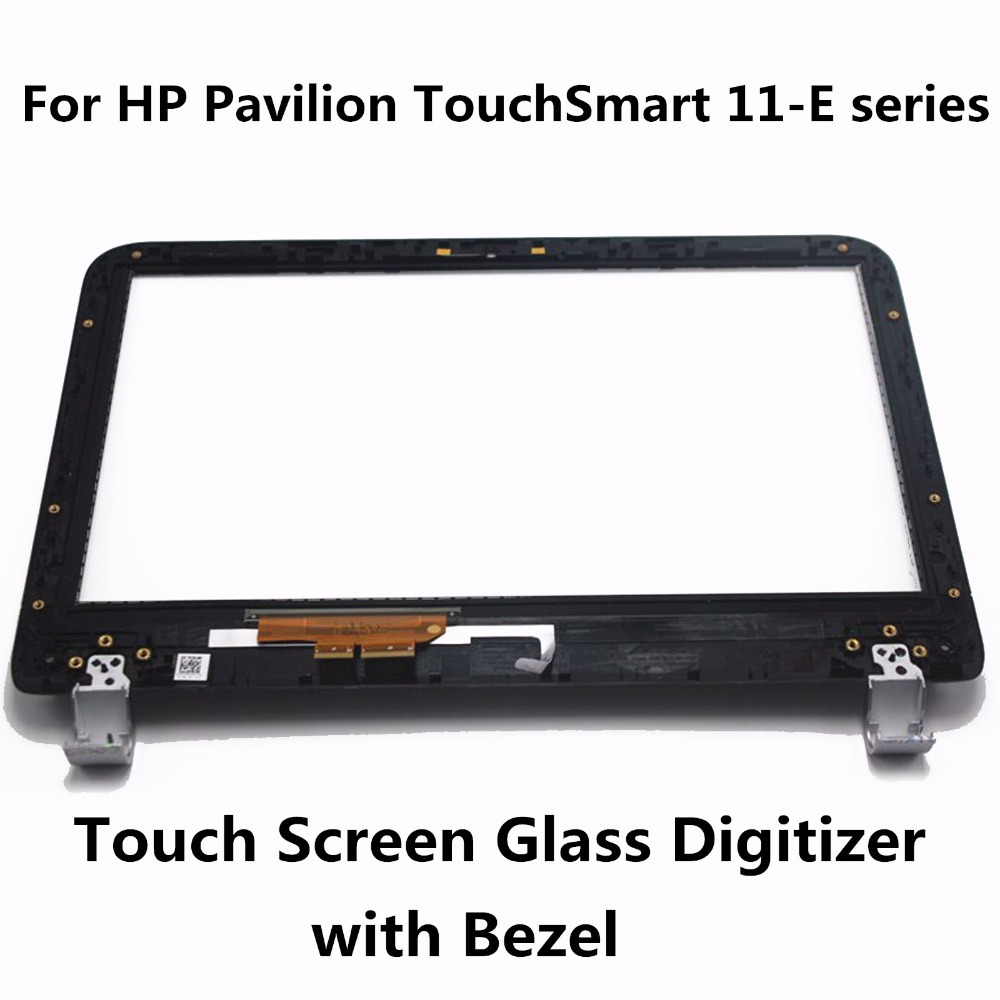 For HP Pavilion TouchSmart 11 series 11-e010au 11-e030ea 11-e030sa 11-E110NR 11-e019au Touch Screen Digitizer Sensor Glass+Bezel<br>