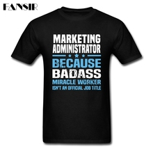 Big Size Marketing Administrator Classical Tees Shirt Male 100% Cotton Short Sleeve Men Tshirt Group Tops Clothing(China)