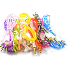 Colorful 1M 3FT Crystal Aux Audio Cable 3.5mm Jack Cord for ipod for iPhone 6 mobile phone