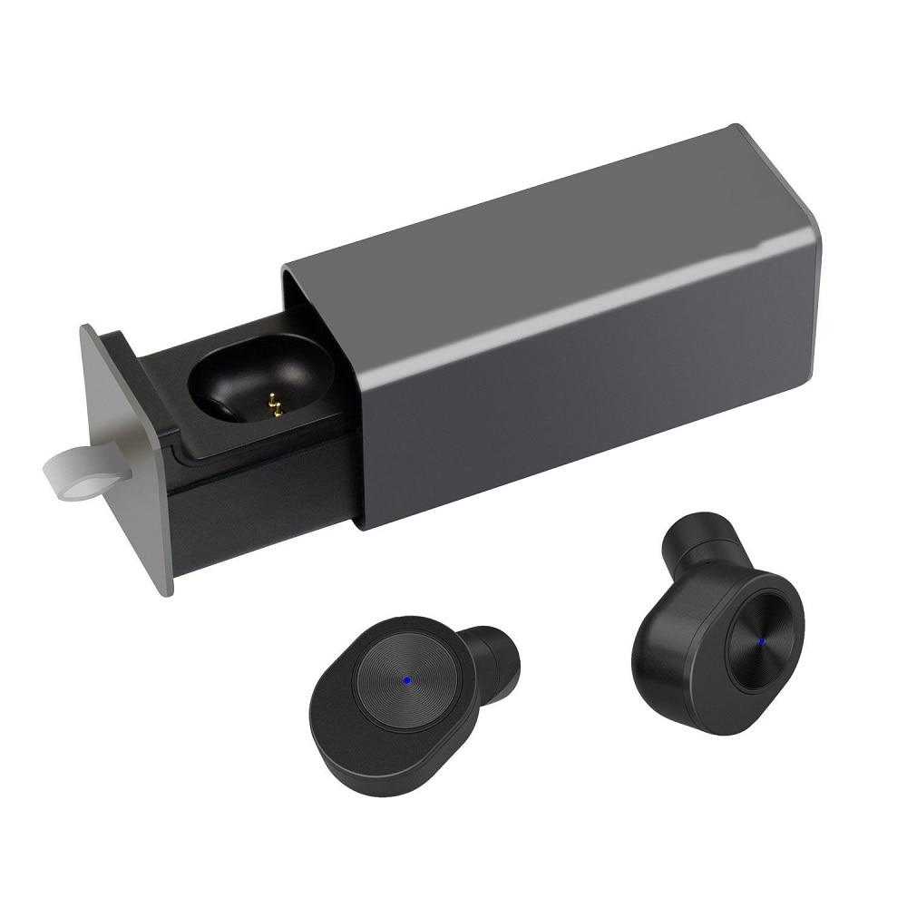 YTOM True Wireless Earbuds TWS Bluetooth Headset Headphones Mini Twin Cordless Hands-free Built In Mic Sports earphone for phone<br>
