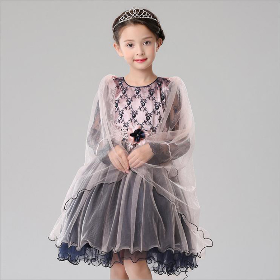 New Winter Clothing For Baby Girl Dress Fashion Spring Autumn Cute Dot Plaid Baby Girl Dresses Outfit Flower Bow Kids Clothes<br><br>Aliexpress