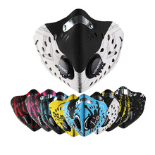 Sport Dust Filter Cycling Face Mask Half Face Protective Mask Cool Pollution Bike Face Shield Neoprene Smog Pm 2.5 Training Mask(China)