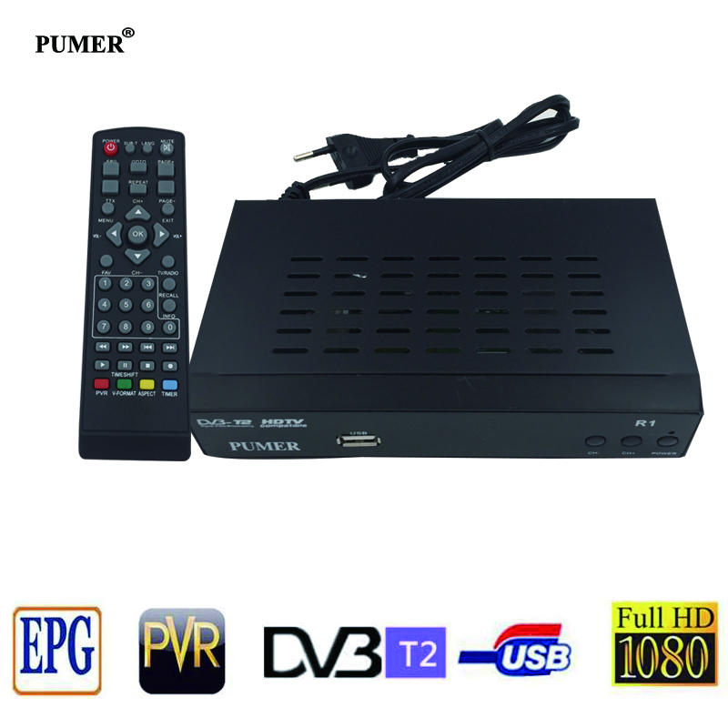 HD DVB-T2 Digital tv receiver Terrestrial Receiver Set-top Box Multimedia Player H.264/MPEG-2/4 Compatible DVB-T