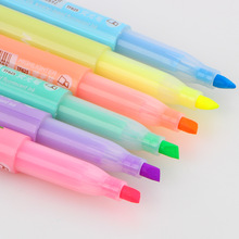 6 pcs/lot 2016 new cartoon cute creative focus stud highlighter marker pen marker office school supplies baby gift free shipping(China)