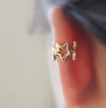 Timlee E034 Cute18k Grace Fashion Punk Style Star Alloy Clip earring Ear Cuff  Wholesale HY