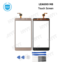 For LEAGOO M8 Original Sensor Touch Screen Perfect Repair Parts Touch Panel+Tools For LEAGOO M8 Screen Digitizer +3M Tape