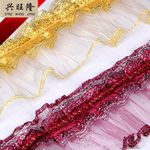 XWL 10Yards/Lot 7.5cm Wide Glass Yarn Lace Trim Cloth Pillow Tapestry Edge Braid Lace Accessories Fringes Ribbon Wedding Decor(China)