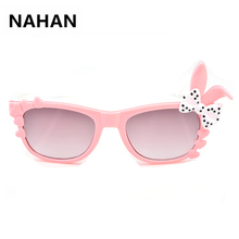 Cute Bow Sunglass for Girls Kids Gradient Sunglasses Children Safety Acrylic SunGlasses UV 400 Protection Fashion Shades Eyewear