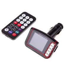 Brand 1.8 Inch Wireless LCD Kit Car Auto FM Transmitter Modulator MP3 MP4 Music Player USB/MMC/SD + Remote Control