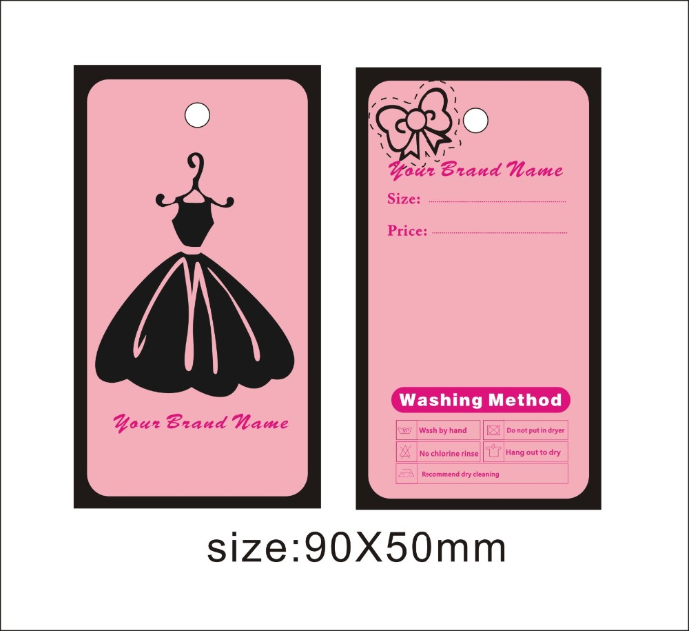 custom print hang tags price label famous template 002 can be print ...
