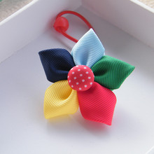 High Quality Manual Children Hair Bow Rope Girls Hair Accessories Girls Headwear Baby Flowers Elastic Hair Bands Kids Headdress