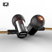 Original KZ ED9  In Ear Earphones Super Bowl Tuning Nozzles T Shaped Driver Metal Monitoring Earphone With Mic Stereo Earphones
