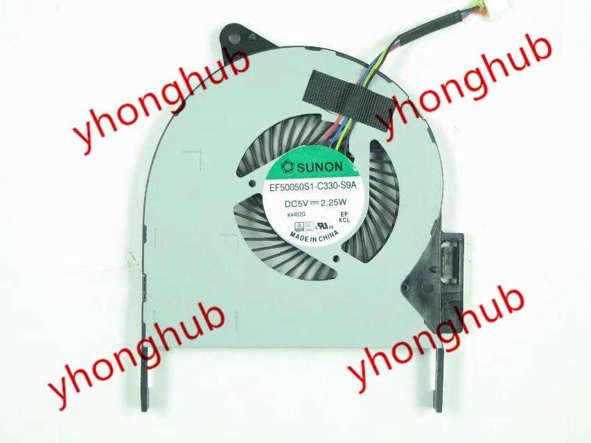 Free shipping for SUNON EF50050S1-C330-S9A DC 5V 2.25W 4-wire 4-pin connector Server Laptop Fan<br>