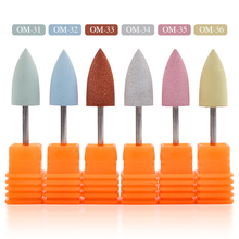 1Pcs Nail Silicone Polisher Drill Bit Cutter for Smoothing and Polishing for Nail Electric Drill Machine Accessory Tools(China)