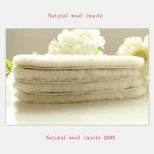 2017 winter Sheep's wool insoles fur a breathable warm ugg boots with thick insoles wool insoles manufacturer package mail(China)