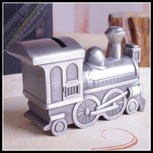ElimElim High Quality Piggy Bank Retro Tin Money Box Car Coin Bank for Children Car Saving Box(China)