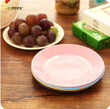 4pcs/lot Longming Home Creative Candy colors Tableware flat plate saucer seeds snack food-grade plastic dish  LF 117