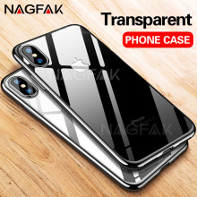 NAGFAK Transparent Soft TPU Case For iPhone 6 6s 7 8 Plus X Cases Ultra Thin Cover Capa For iPhone X 5 5s SE 7 8 Plus Phone Case(China)