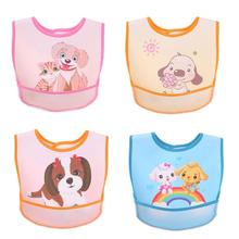 Lovely Cartoon Baby Bibs Waterproof PVC Infants Cartoon Pattern Burp Cloths Feeding Care Tool Baby Feeding& Eating Special Towel(China)