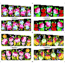 4 PACKS / LOT FULL COVER ABTRACT FLOWER VINE GRASS TATTOOS STICKER WATER DECAL NAIL ART M011-014(China)