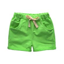 Summer Solid Candy Colors Shorts For Baby Boy Loose Mid Waist Casual Children's Shorts