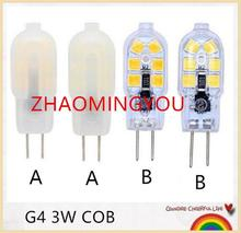 YON G4 3W LED AC/DC 12V COB Light High Quality LED G4 COB Lamp Bulb JC TYPE SMD 2835 Chandelier Lamps Replace Halogen LED Light(China)