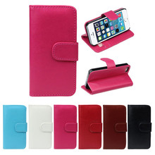 Best Price 1PC Retro Leather Wallet Flip Cover Case For Apple iPhone 5 5G 5S