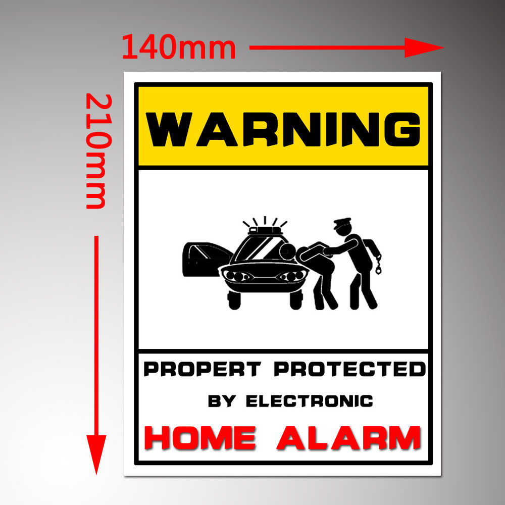 Property Monitored Alarm System Monitored Stickers-Security Signs HOME Security Warning Window Stickers For Alarm System<br><br>Aliexpress