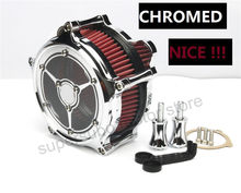 Motorcycle See though Clarity Air Cleaner intake filter For Harley Touring street Glide 08-16 chromed air intake