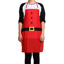 New Arrival Christmas Santa Claus Apron Christmas Decorations for Home Red Cloth Adult Pinafore Noel Decoration