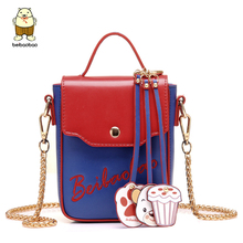Beibaobao 2017 New Fashion Mini Design Women Messenger Bags Famous Brand Women Bag Good Quality Smart Telephone Bags Tote B074