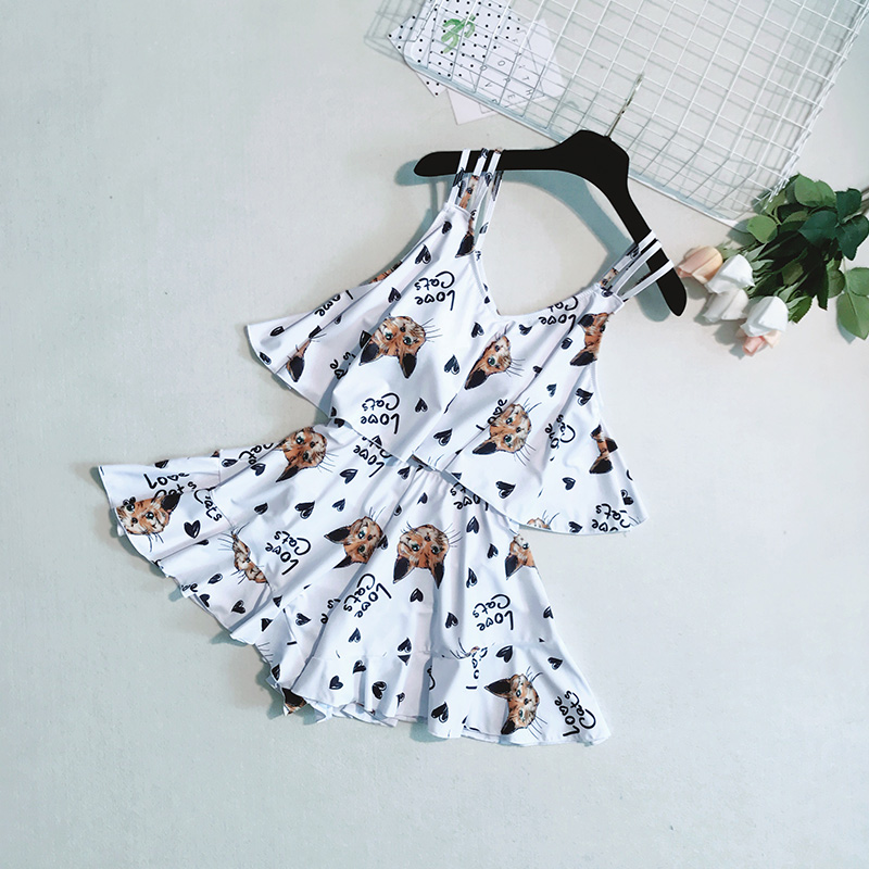 Yingfa Swimwear Korea Female Swimsuit Small Fragrant Cover Belly Thin Piece Flounce Conservative Students Culottes Hot <br>
