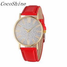 CocoShine A-829 Fashion Women Crystal Rhinestone Analog Leather Quartz Wrist Watch Watches!Support wholesale wholesale(China)