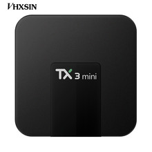 VHXSIN TX3 Mini TV BOX 5pcs/lot Android 7.1 TV BOX TX3 Mini Amlogic S905W 2G RAM 16G ROM Android7.1 4K internet tv set top box(China)