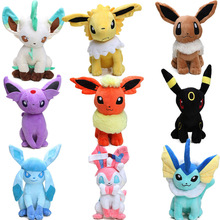 30cm Eevee Jolteon Umbreon Flareon Espeon Vaporeon Soft Stuffed Animal Dolls Pocket Plush Toys Digimon World Plushie Toys