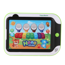 Mini Music Tablet Touch Screen Piano Drum Learning Machine Tools Child Developmental Toy for Children's Gift(China)