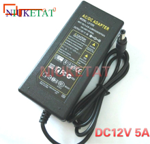 LX1205 12V 5A 12V5A 60W LED strip power adapter AC 110-240V 5.5*2.5-2.1 dc LED Power Supply Adapter drive for RGB LED 5050 3528