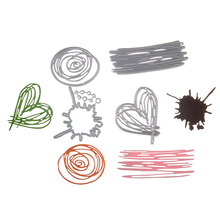New Metal Steel Heart Rose Line Cutting Dies Stencil For DIY Scrapbooking Album Paper Card Photo Decorative Craft