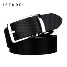 IFENDEI Casual Belt Men's Luxury Brand Genuine Leather Belts For Men Rotatable Pin Buckle Sided Leather Belt Cinturones Hombre(China)