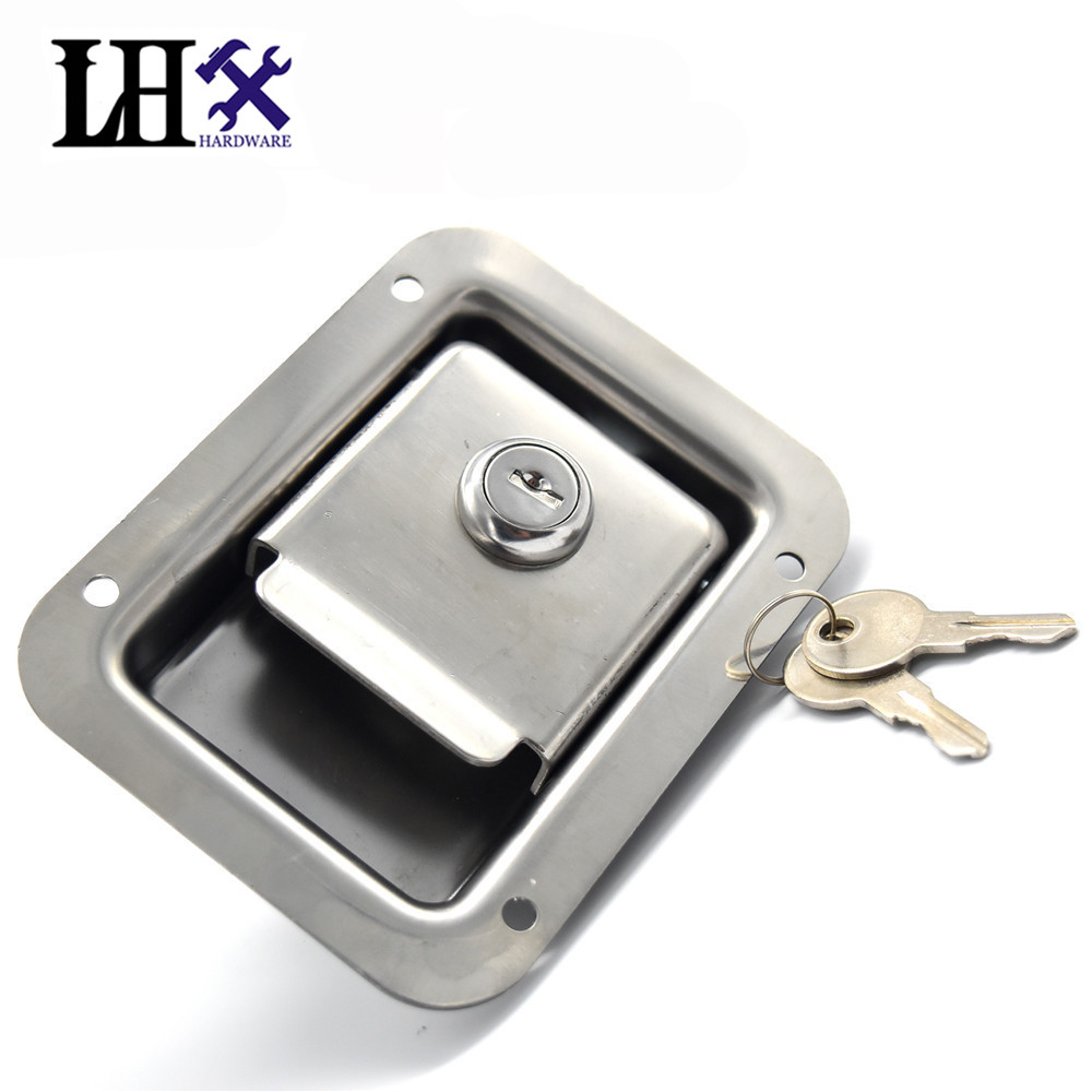 LHX CMMS216 Hardware High Quality Truck Door Lock Stainless Steel Pickup Accessories Bus,Car Lock Cerradura<br>