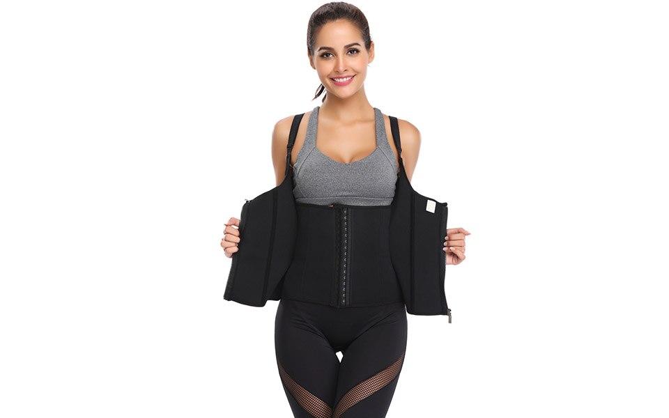 Waist Trainer Neoprene Waist Trainer Body Shaper Slimming Woman Body Corset Vest Shapewear Weight Loss Waist Shaper Plus Size (9)