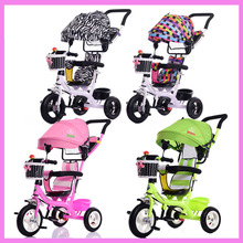 Buy Portable Baby Toddle Child Tricycle Bike Trolley Three Wheels Stroller Removable Wash Tricycle Pushchair Pram Bicycle 6M~5Y for $139.66 in AliExpress store