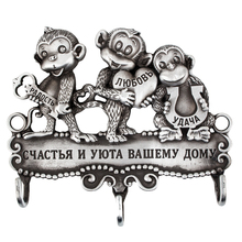 Unique box. decorations Christmas decorations lovely monkeys key finder.New Year gift Wall ornament keyhook creative coat hooks