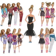 2017 Beautiful 20 PCS/set Handmade Party Clothes Fashion Dress for Barbie Doll Mixed style Dress