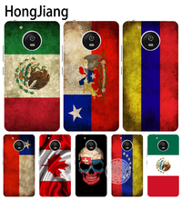 HongJiang slovak mexico canada chile colombia flag case cover for For Motorola Moto G5 G4 PLAY PLUS ZUK Z2 BQ M5.0