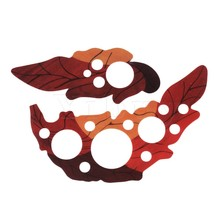 Yibuy Pair Leaf Design Acoustic Guitar Pickguard Grape Shape