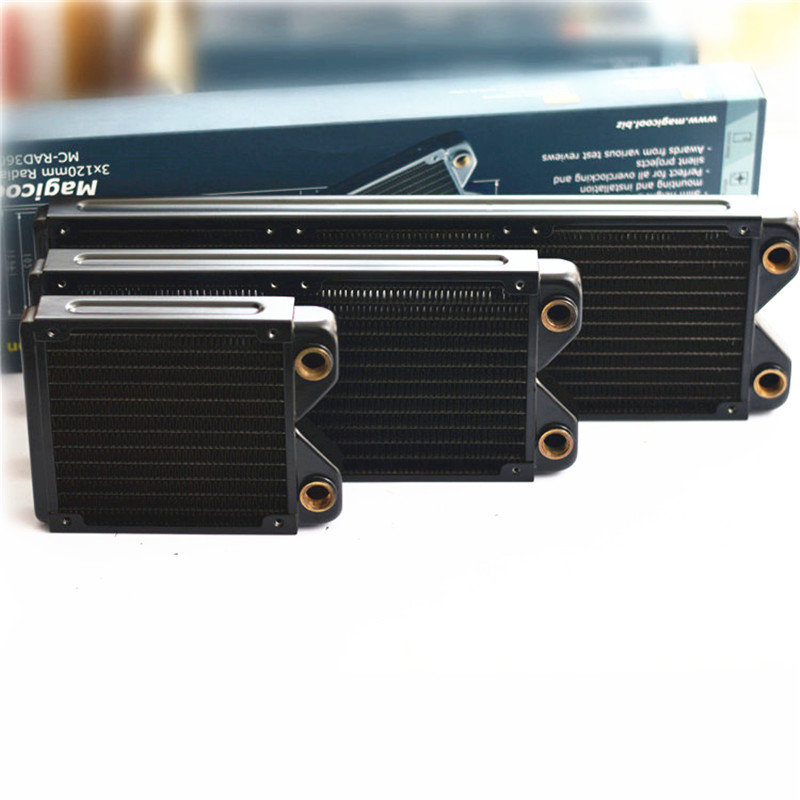 Flying-Elephant 240 360 Slim G2 Radiator Full Copper Computer Water Cooled Row Heat Exchanger Koolance Liquid-cooled<br>