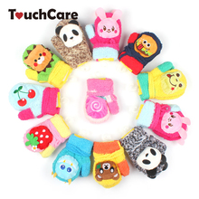 Cute Cartoon Animal Baby Boy Girl Gloves Winter Newborn Thicken Warm Fleece Mittens Infant Unisex Coral Velvet Kids Gloves(China)